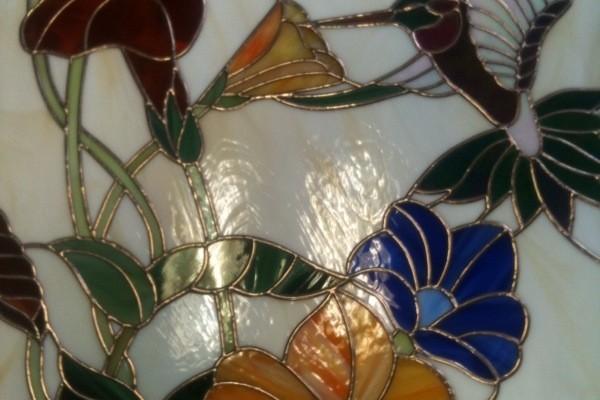 Tiffany üveg kolibris