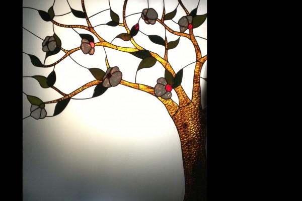 Tiffany üveg : virágzó fa