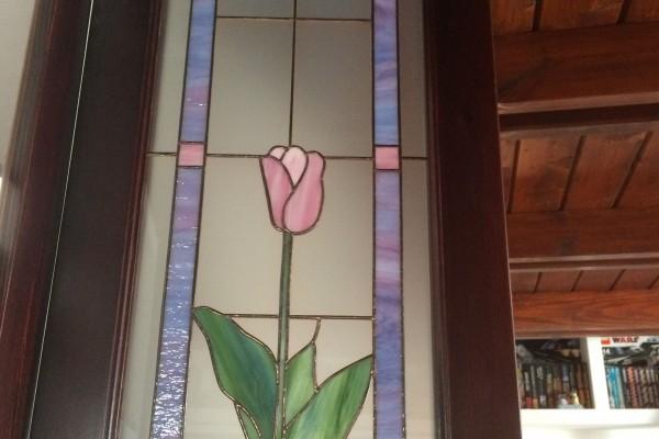 Tiffany üveg tulipános