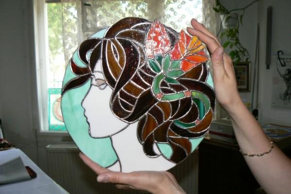 Éva munkája: női fej