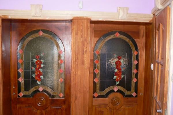 Tiffany virágos ajtó