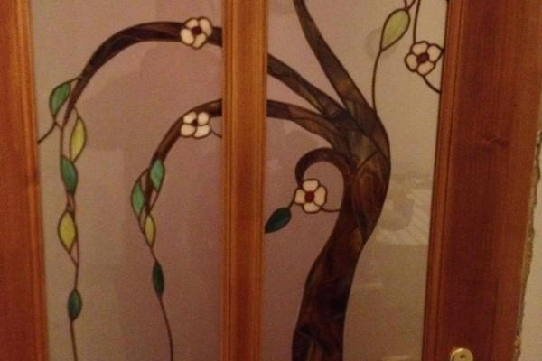 Tiffany üveg virágzó fa
