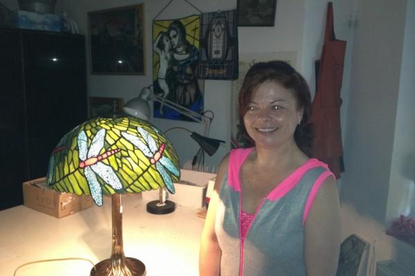 Első tiffany lámpám