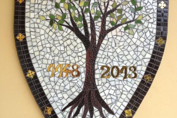 Üveg mozaik ,Kerepes 865-éves