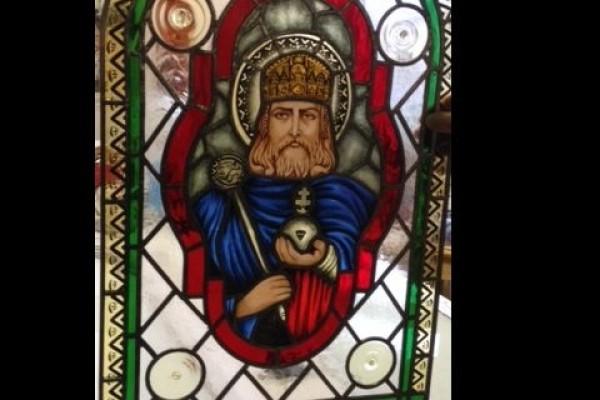 Ólomüveg : Szent István