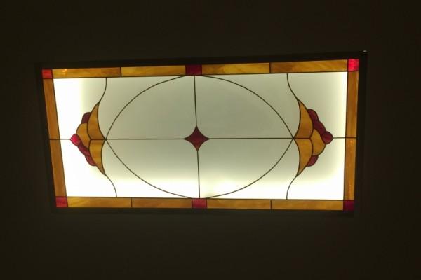 Tiffany üveg mennyezeti világító