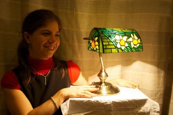 Orsi Tiffany banklámpája