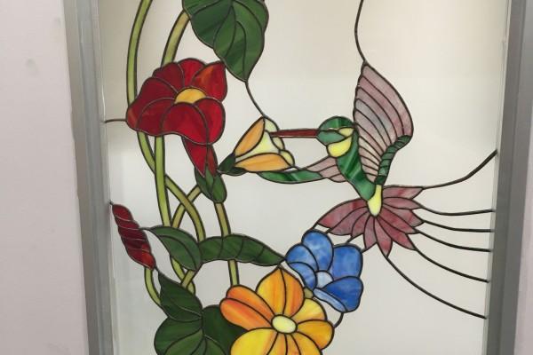 Tiffany üveg kolibris 2