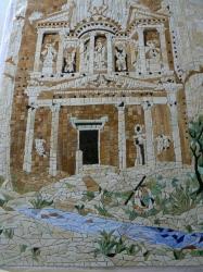 Petra, szabott mozaik, tiffany üveg anyagbol, Üvegbarlang munkája